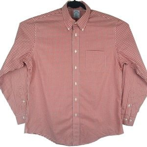 Brooks Brothers Red Check Regent Fit Button Down L